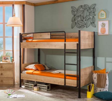 Pat etajat pentru copii, Colectia Mocha, 90x 200 cm [1]