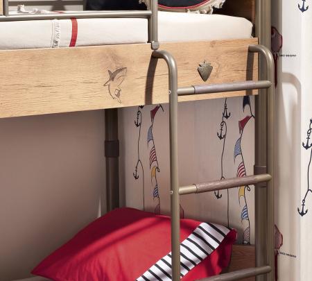 Pat etajat pentru copii, Colectia Pirate, 90x 200 cm [2]