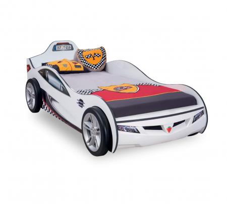 Pat masina Coupe-alba, colectia Champion Racer 90x190 Cm [0]