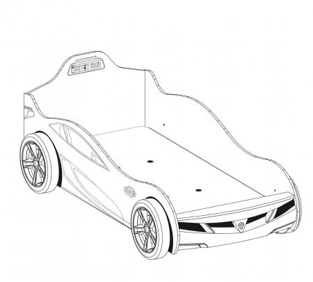 Pat masina Coupe-rosie, colectia Champion Racer 90x190 Cm [1]