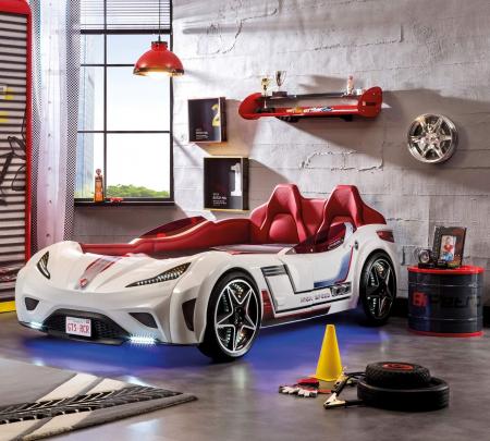 Pat masina GTS-alba, colectia Champion Racer 99x191 cm [1]