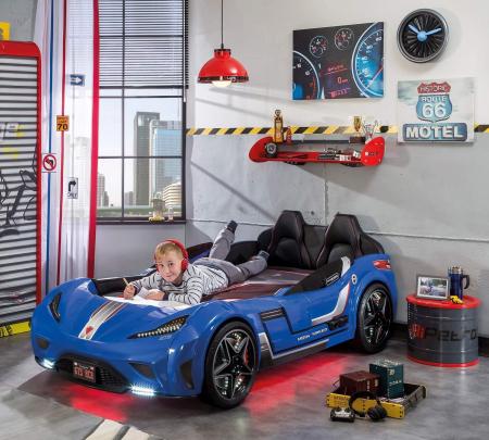 Pat masina GTS-bleu, colectia Champion Racer 99x191 cm [1]