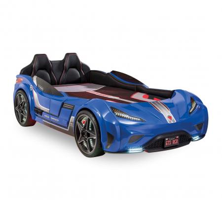 Pat masina GTS-bleu, colectia Champion Racer 99x191 cm [0]