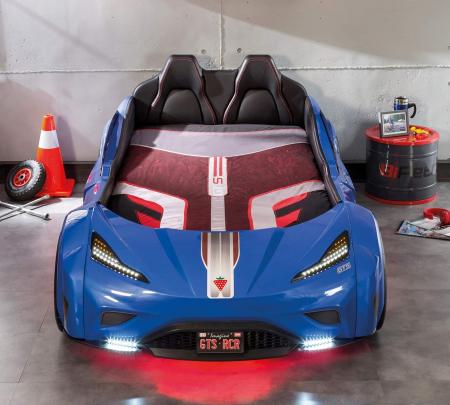 Pat masina GTS-bleu, colectia Champion Racer 99x191 cm [2]
