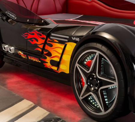 Pat masina GTS-negru, colectia Champion Racer 99x191 cm [5]