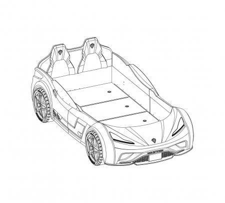 Pat masina GTS-negru, colectia Champion Racer 99x191 cm [7]