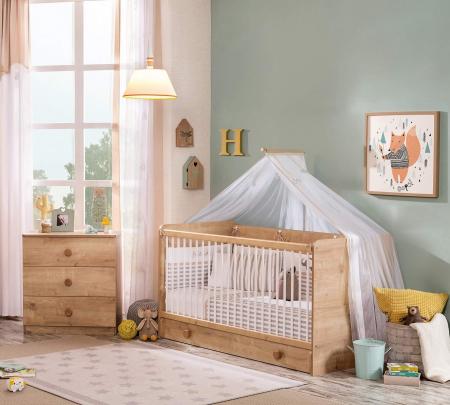Pat pentru bebelusi reglabil Mocha baby [1]