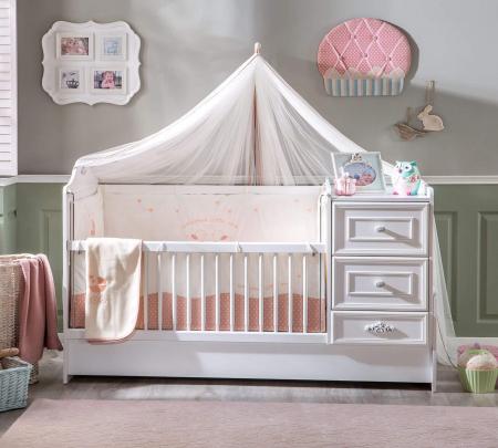 Patut transformabil pentru bebe colectia Romantica Baby, 75 x 160 cm [1]