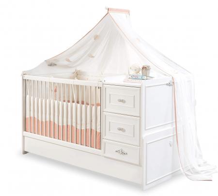 Patut transformabil pentru bebe colectia Romantica Baby, 75 x 160 cm [0]