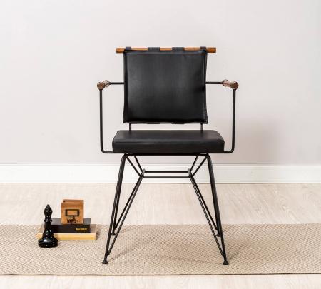 Scaun pentru copii, piele ecologica si picioare din metal Exclusive [3]