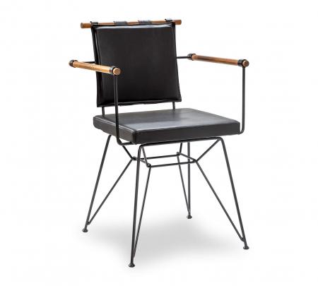 Scaun pentru copii, piele ecologica si picioare din metal Exclusive [0]
