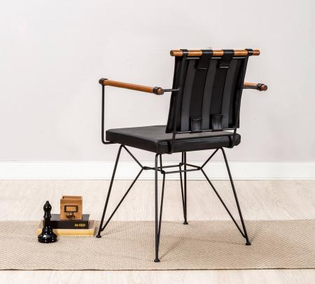 Scaun pentru copii, piele ecologica si picioare din metal Exclusive [2]