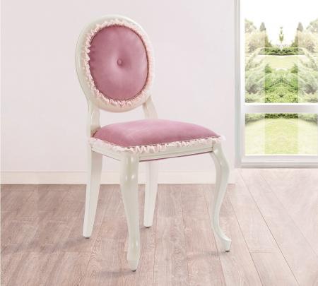 Scaun pentru copii, tapitat cu stofa cu picioare din lemn Dream Pink [1]