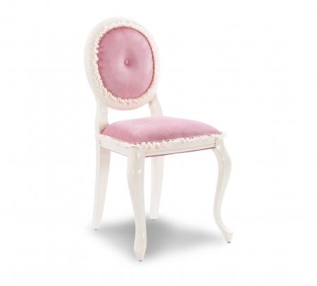 Scaun pentru copii, tapitat cu stofa cu picioare din lemn Dream Pink [0]