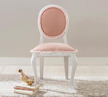 Scaun pentru copii, tapitat cu stofa cu picioare din lemn Dream Salmon [2]