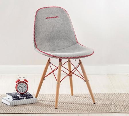 Scaun pentru copii, tapitat cu stofa cu picioare din lemn Quatro Chair Grey [1]