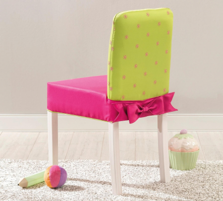 Scaun pentru copii, tapitat cu stofa cu picioare din lemn Ribbon [2]
