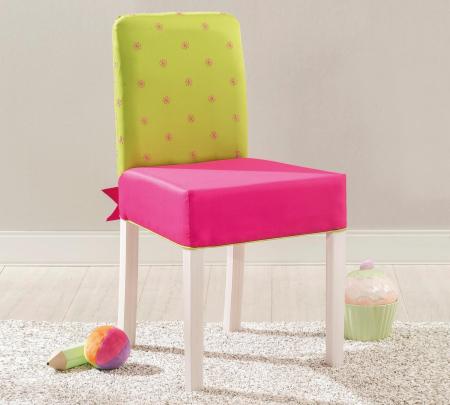 Scaun pentru copii, tapitat cu stofa cu picioare din lemn Ribbon [1]
