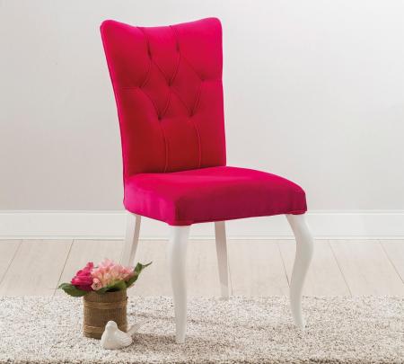 Scaun pentru copii, tapitat cu stofa cu picioare din lemn Rosa [1]