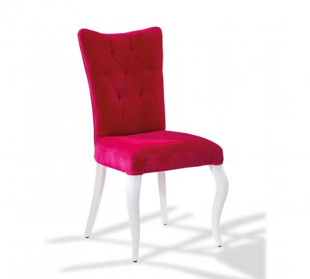 Scaun pentru copii, tapitat cu stofa cu picioare din lemn Rosa [0]