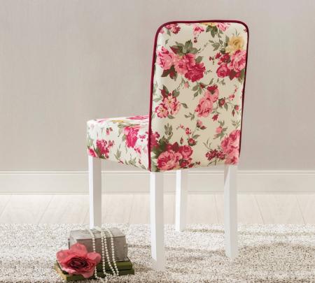Scaun pentru copii, tapitat cu stofa cu picioare din lemn Summer Chair With Flower [2]