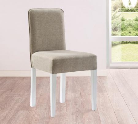 Scaun pentru copii, tapitat cu stofa cu picioare din lemn Summer Grey [1]