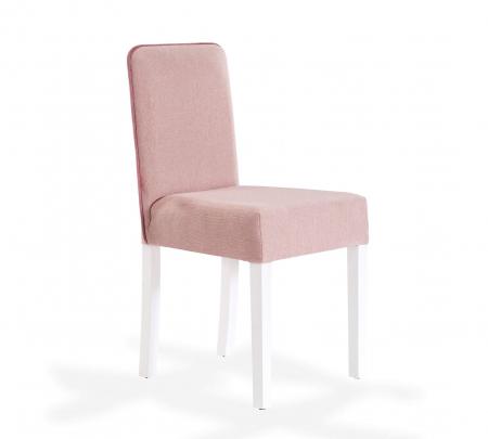 Scaun pentru copii, tapitat cu stofa cu picioare din lemn Summer Pink [0]