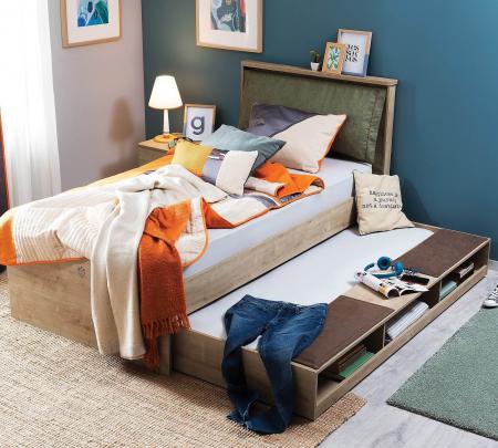 Sertar pat multifunctional  pentru camera copii si adolescenti Colectia Mocha 90x190 cm [1]