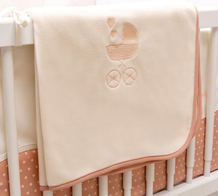 Set lenjerie pentru patut bebe, colectia Romantic baby 80x130 cm [2]