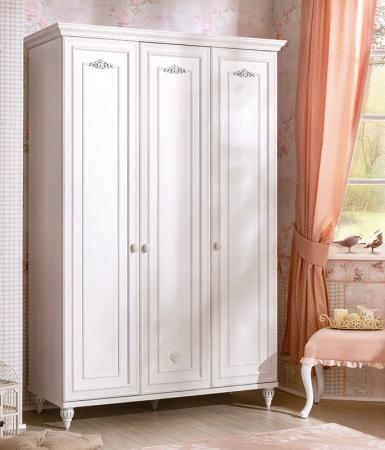 Set din pat 100x200 cm, dulap si comoda+oglinda Colectia Romantica [1]