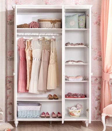 Set din pat 100x200 cm, dulap si comoda+oglinda Colectia Romantica [2]