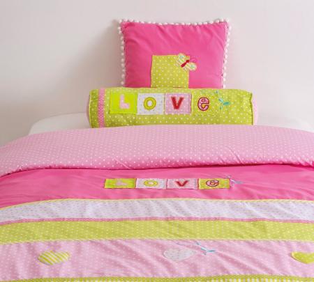 Set pentru pat copii, Colectia Love 90 x100 cm [1]