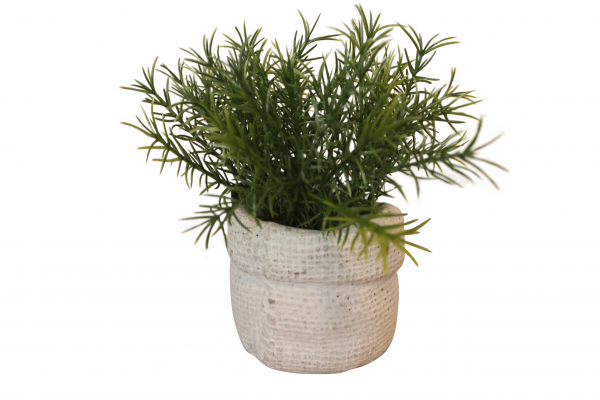 Planta artificiala in ghiveci din ciment, inaltime 14 cm, ID160067B 0