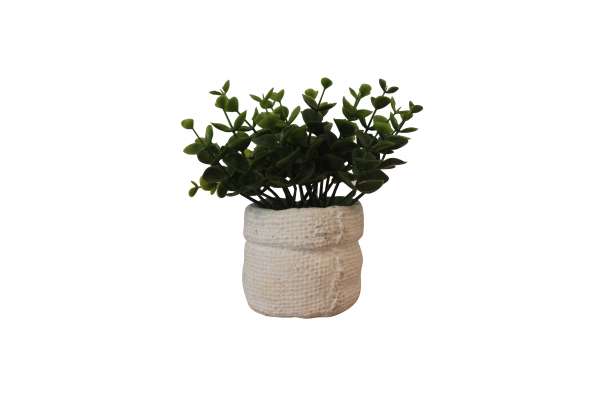 Planta artificiala in ghiveci din ciment, inaltime 14 cm 1