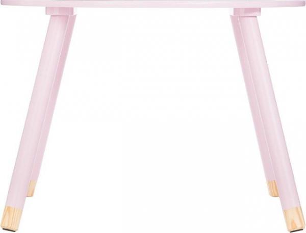 Masuta copii, din lemn, roz, inaltime 43 cm [3]