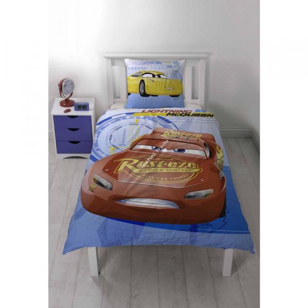 Lenjerie de pat pentru copii Cars-Fulger McQueen 140cm x 200cm 0