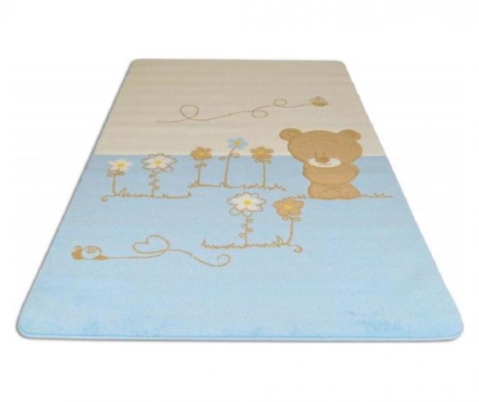 Covor copii Baby set Shy Bear Albastru 120 X 180 cm [0]