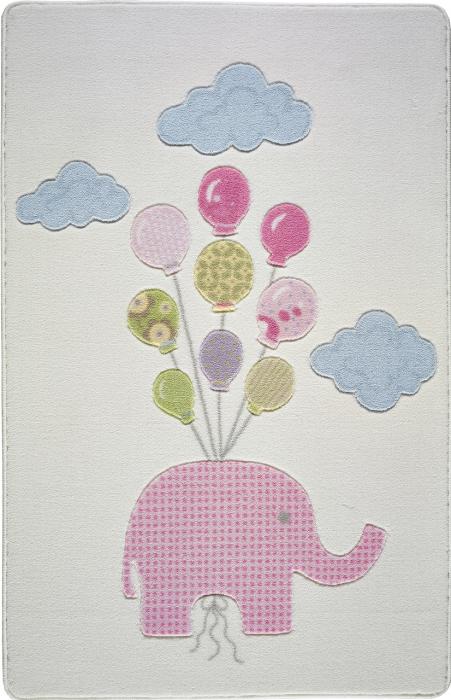 Covor copii Sweet Elephant Roz 100 x 150 cm [1]
