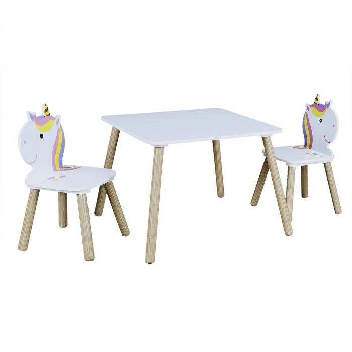 set masuta si scaunele copii unicorn 2