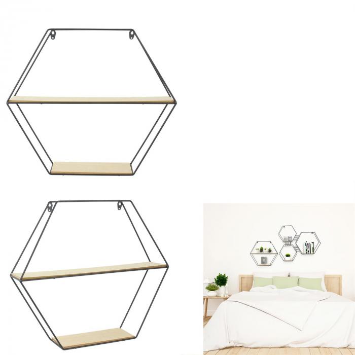 raft metalic pentru perete hexagon [0]