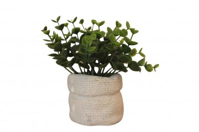 Planta artificiala in ghiveci din ciment, inaltime 14 cm2