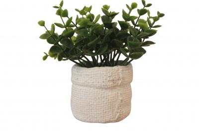 Planta artificiala in ghiveci din ciment, inaltime 14 cm0