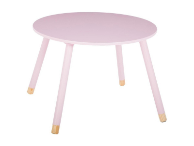 Masuta copii, din lemn, roz, inaltime 43 cm [1]
