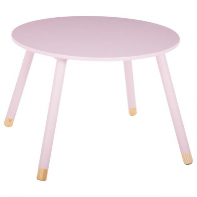 Masuta copii, din lemn, roz, inaltime 43 cm [4]