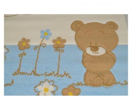 Covor copii Baby set Shy Bear Albastru 120 X 180 cm [1]