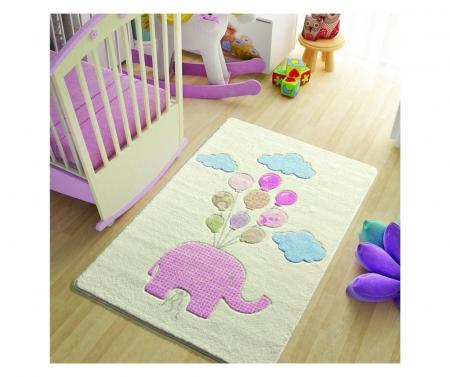 Covor copii Sweet Elephant Roz 100 x 150 cm [0]