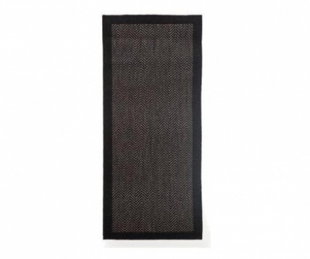 Covor Intrare Chevron Negru 50 x 120 cm [0]