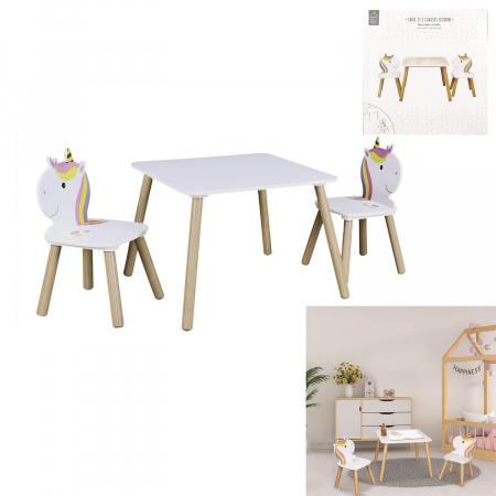 Set masuta si scaunele copii Unicorn0