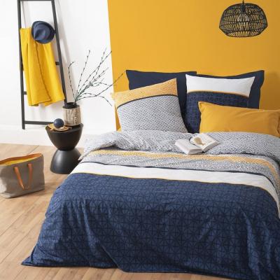 Lenjerie de pat, bumbac, set 2 persoane, Atmosphera, Etni Blue0