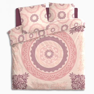 Lenjerie de pat, bumbac, set 2 persoane, Atmosphera, Mandala Pink [1]